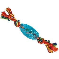 Petstages Игрушка для крупных собак ОРКА-шишка с веревкой