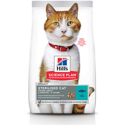 HILL'S Сухой корм для стерилизованных кошек до 7 лет Тунец