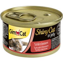 Консервы Gimpet ShinyCat для кошек из тунца с лососем в желе