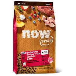 Сухой корм Now Natural holistic беззерновой для взрослых собак со свежим мясом ягненка, Grain Free Red Meat Adult Recipe DF