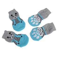 4 My Pets Носки для собак Мишка серо-голубые