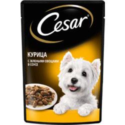 Cesar Пауч для собак Курица с зелеными овощами