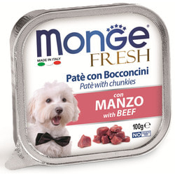Monge Dog Fresh консервы для собак говядина