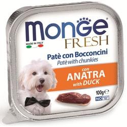 Monge Dog Fresh консервы для собак утка