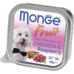 Monge Dog Fruit консервы для собак курица с малиной