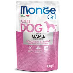 Monge Dog Grill Pouch Паучи для собак кусочки свинины