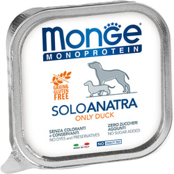 Monge Dog Monoprotein Solo консервы для собак паштет из утки
