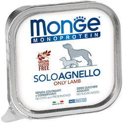 Monge Dog Monoprotein Solo консервы для собак паштет из ягненка