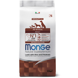 Monge Dog Speciality корм для собак всех пород ягненок с рисом и картофелем