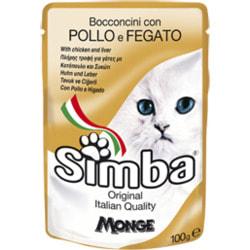 Simba Cat Pouch паучи для кошек курица с печенью
