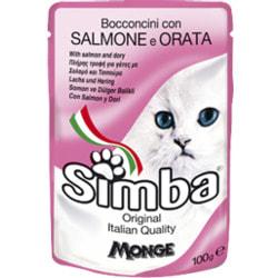 Simba Cat Pouch паучи для кошек лосось с камбалой
