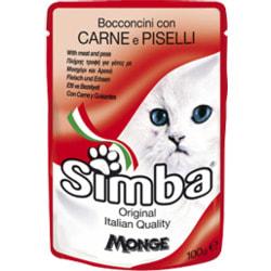 Simba Cat Pouch паучи для кошек мясо с горохом