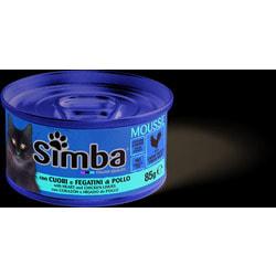 Simba Cat консервы для кошек паштет куриные сердечки с печенью