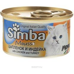 Simba Cat консервы для кошек паштет курица с индейкой