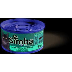 Simba Cat консервы для кошек паштет лосось с креветками
