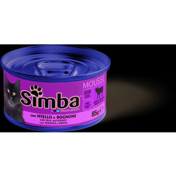 Simba Cat консервы для кошек паштет телятина с почками