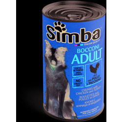 Simba Dog консервы для собак кусочки курица с индейкой