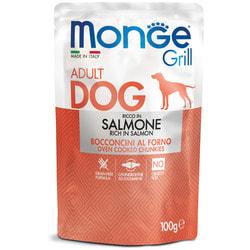 Monge Dog Grill Pouch Паучи для собак кусочки лосося