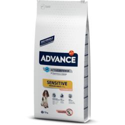 Сухой корм Advance Affinity Sensitive для собак с чувствительным пищеварением с лососем и рисом