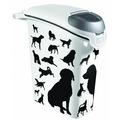 Curver PetLife Контейнер для корма Собаки черно-белый на 10кг/23л