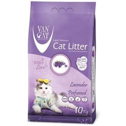 Van Cat Комкующийся наполнитель без пыли с ароматом Лаванды