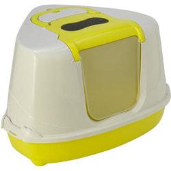 Moderna Туалет-домик угловой для кошек Flip с угольным фильтром 55х45х38см