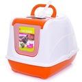 Moderna Туалет-домик для кошек Flip с угольным фильтром 50х39х37см