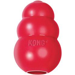 Kong Игрушка для собак Classic из литой резины для лакомств