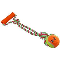 DOGMAN Мячик на канате с ручкой