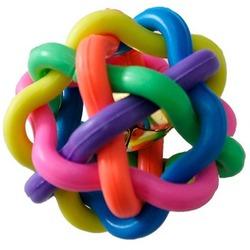 Smartpet Игрушка для собак Плетеный мяч из резины с бубенчиком