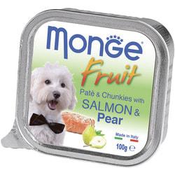 Monge Dog Fruit консервы для собак лосось с грушей