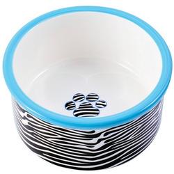 КерамикАрт Миска керамическая для собак зебра
