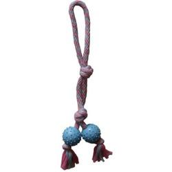 Chomper Игрушка для щенков веревочная с резиновой вставкой