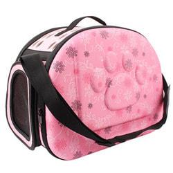 Smartpet Сумка переноска для собак и кошек Розовая в цветочек разборная