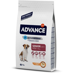 Сухой корм Advance Affinity Mini Senior для пожилых собак мелких пород с курицей