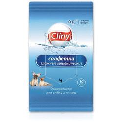 Cliny Салфетки влажные гигиенические для собак и кошек