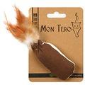 Mon Tero ЭКО Игрушка для кошек Мешочек с перьями с кошачьей мятой