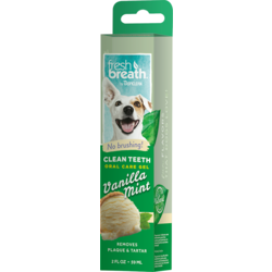 Tropiclean Fresh Breath гель для чистки зубов с ванилью и мятой для собак