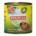 Трапеза Консервы для собак Мясное Трио