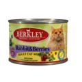 Berkley Консервы для кошек №5 Кролик с лесными ягодами