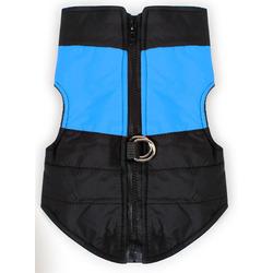 4 My Pets Куртка для маленьких собак утепленная черно-голубая