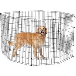 MidWest Вольер черный с дверью 61х107см для щенков и средних собак