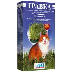АВЗ Травка для кошек в лотке (5 видов семян)
