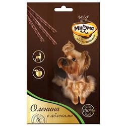 Мнямс Лакомые палочки Деликатес для собак с олениной и яблоком 13,5см