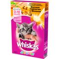 Whiskas Сухой корм для котят подушечки с молоком Индейка/Морковь