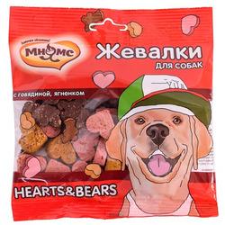 Мнямс Лакомство для собак Жевалки HEARTS+BEARS с говядиной и ягненком