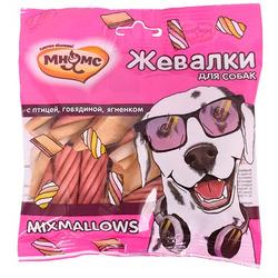 Мнямс Лакомство для собак Жевалки MIXMALLOWS с птицей, говядиной и ягненком
