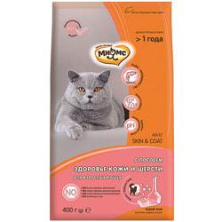 Сухой корм Мнямс Skin&Coat с лососем для взрослых кошек для кожи и шерсти