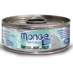 Monge Cat Natural консервы для кошек морепродукты с курицей