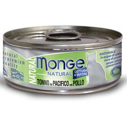Monge Cat Natural консервы для кошек тунец с курицей